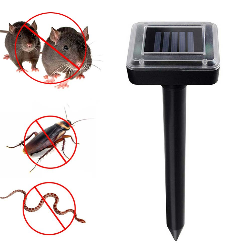 New Solar Powered Ultrasonic Sonic Mouse Mole Pest Rodent