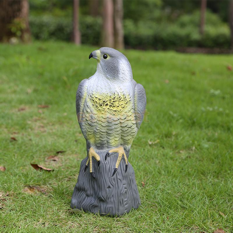 Realistic Falcon Decoy Weed Pest Control Repellent Garden