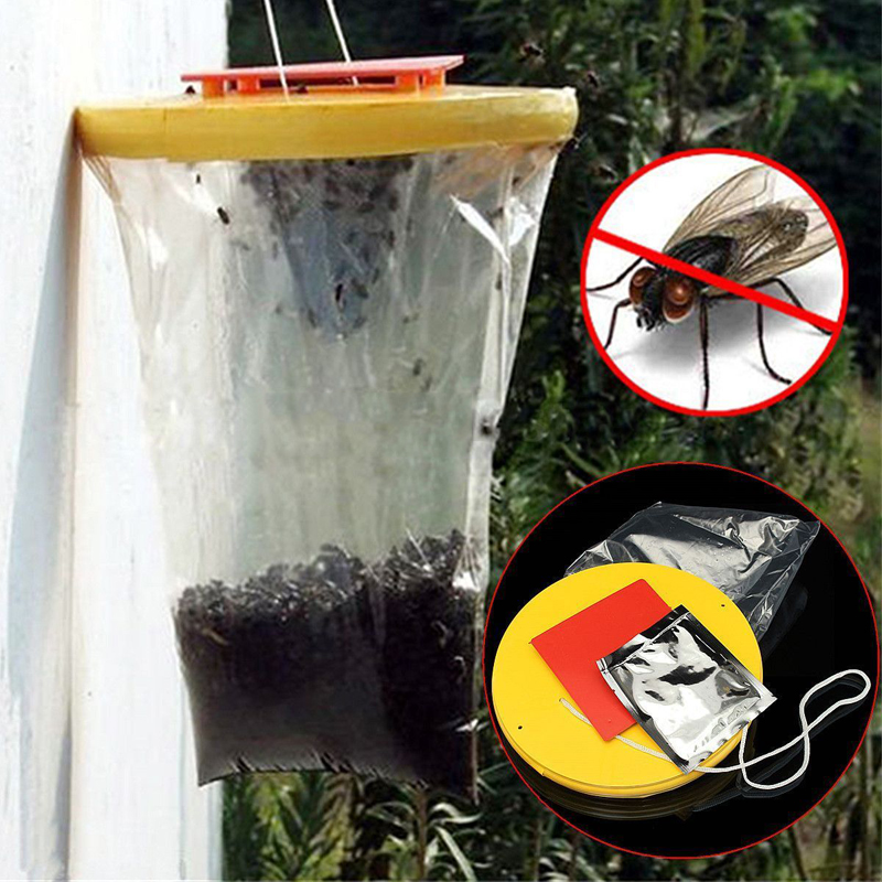 New Top Red Drosophila Fly Trap Hanging Catcher Wasp Bug