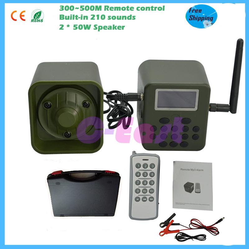 300-500m remote control 50W speaker hunting bird sound MP3 player hunting  bird duck goose decoy calls timer wild animals decoy